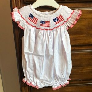 Smocked Patriotic Romper